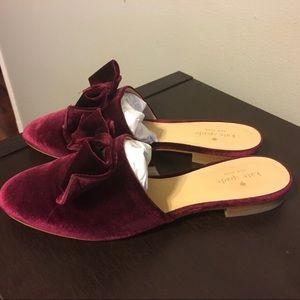 Kate Spade velvet bow mules size 8.5
